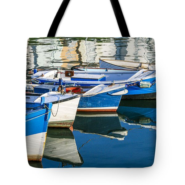 Boats At Anchor Tote Bag