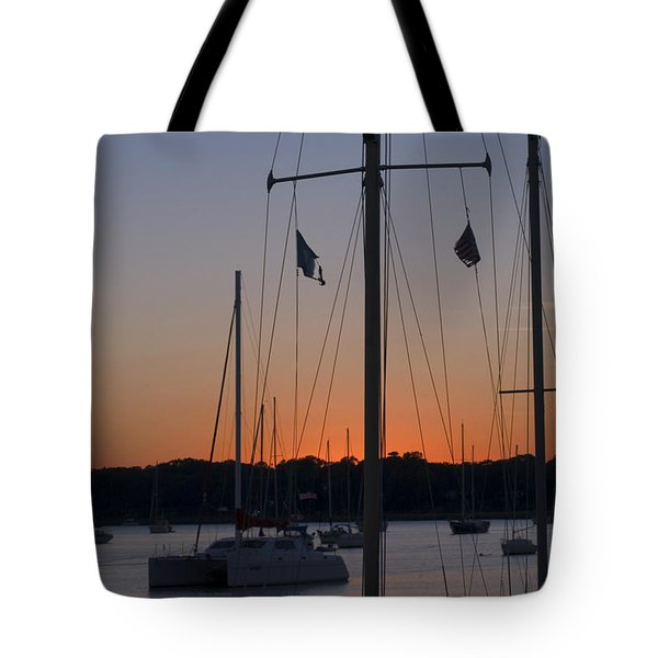 Boats At Beaufort Tote Bag