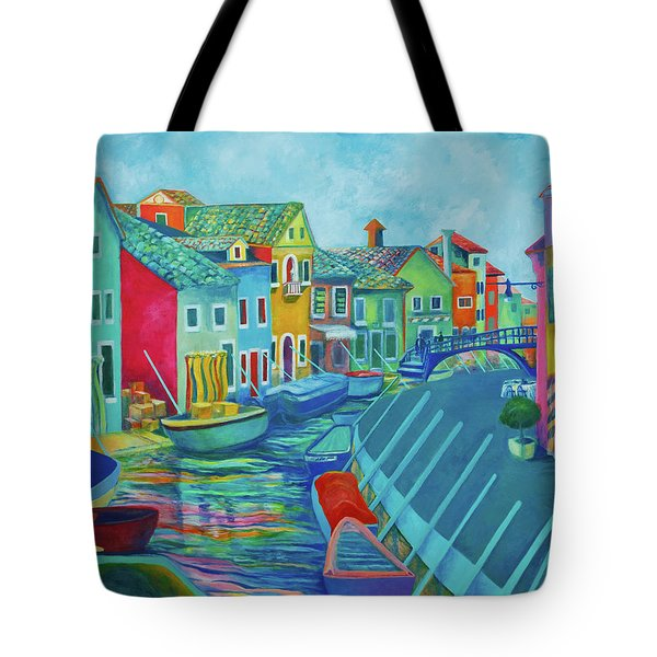 Boats At Burano Tote Bag