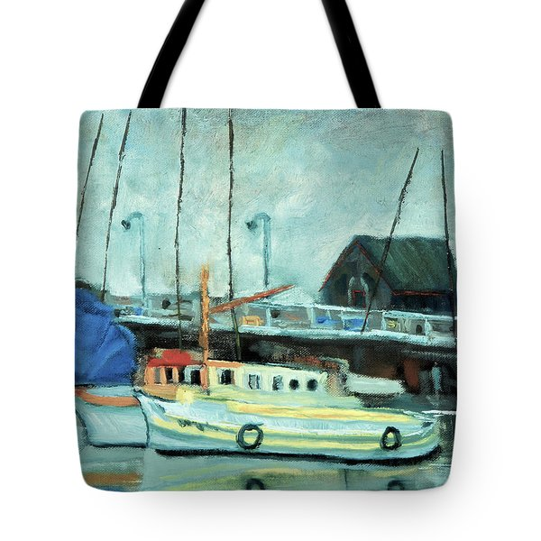 Boats At Provincetown Ma Tote Bag