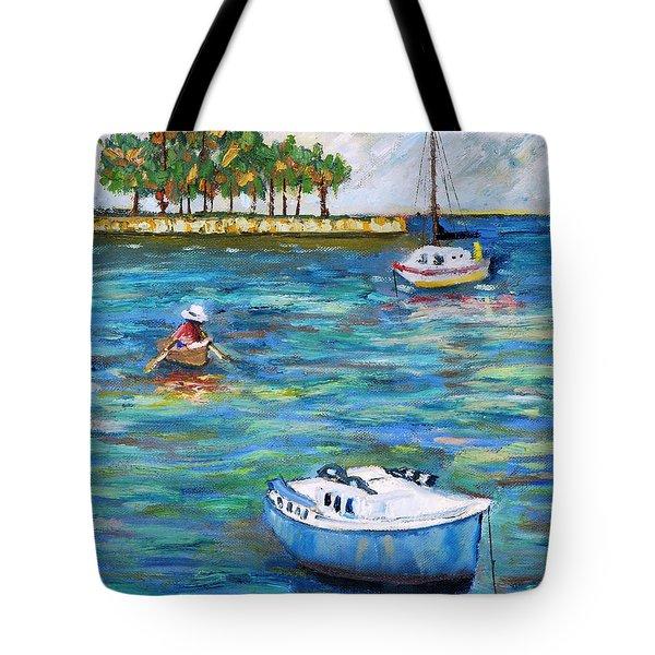 Boats At St Petersburg Tote Bag
