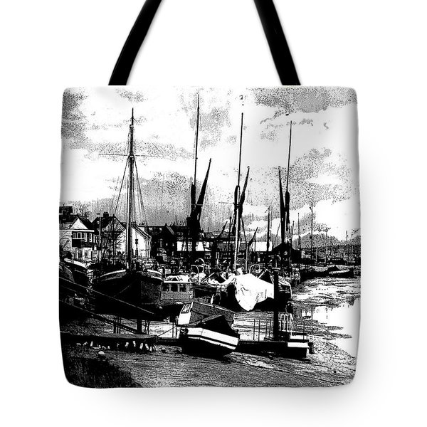 Tote Bag featuring the digital art Boats At Sundown  by Fine Art By Andrew David