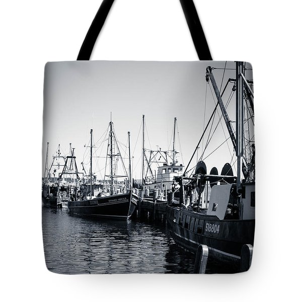 Boats At The Pier  Tote Bag