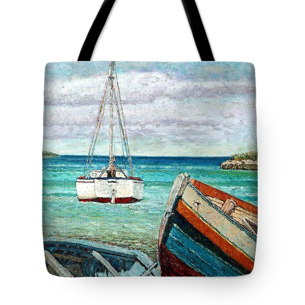 Boats By The Bay Tote Bag