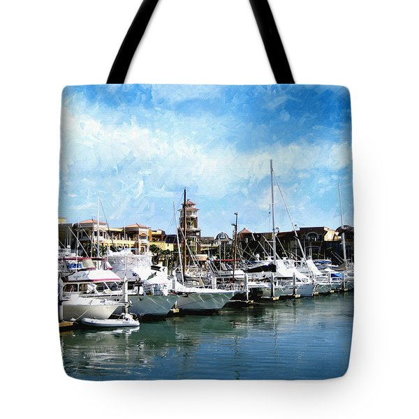 Boats Cabo San Lucas Tote Bag by Ann Powell