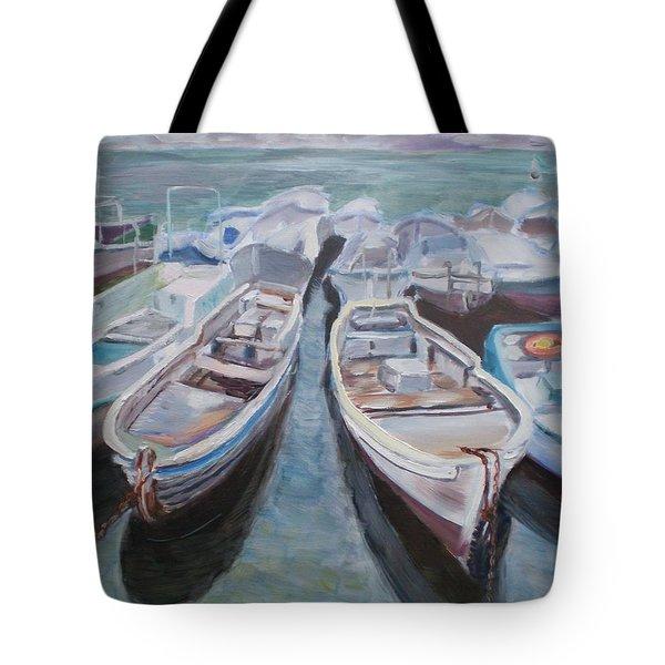 Boats Tote Bag by Elena Sokolova