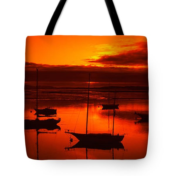 Boats In A Bay, Morro Bay, San Luis Tote Bag
