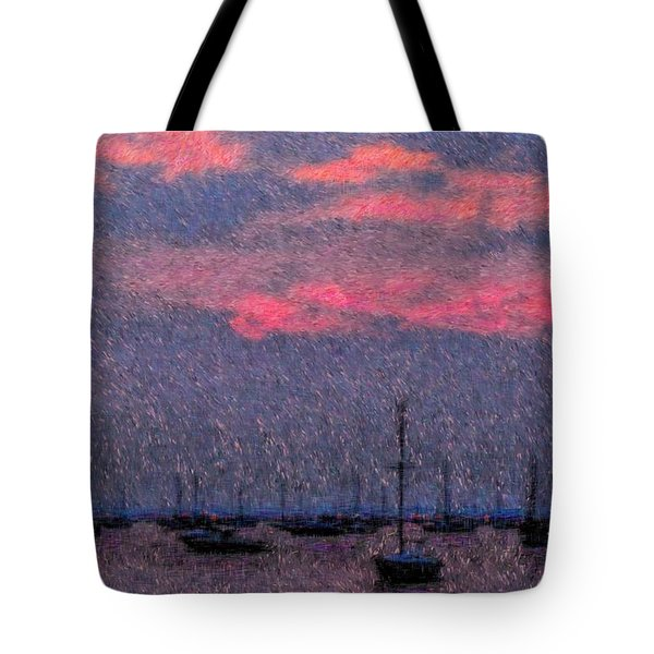 Boats In Harbor Tote Bag by Jeff Breiman