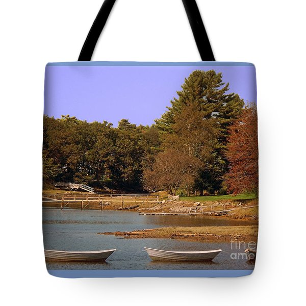 Tote Bag featuring the photograph Boats In Kennebunkport by Gena Weiser