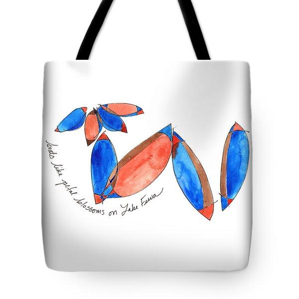 Boats Like Blossoms Tote Bag