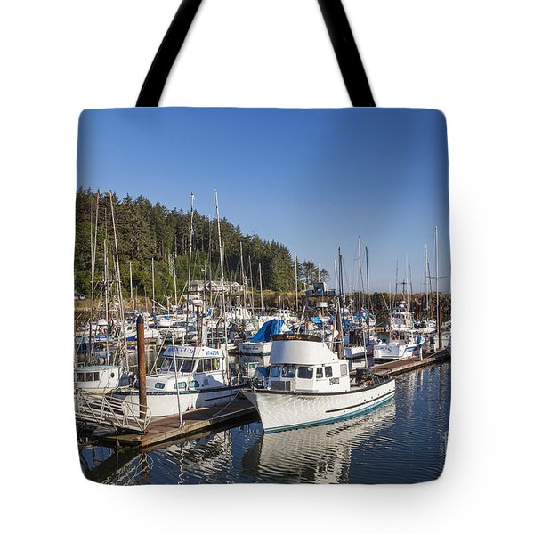 Boats Moored At Charleston Marina Tote Bag