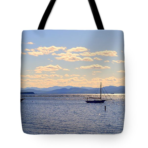 Boats On Lake Champlain Vermont Tote Bag