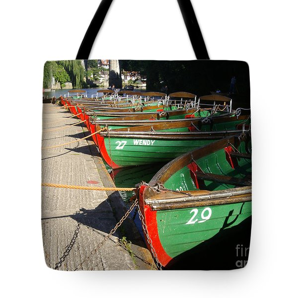 Tote Bag featuring the photograph Boats Waiting For Kids by Doc Braham