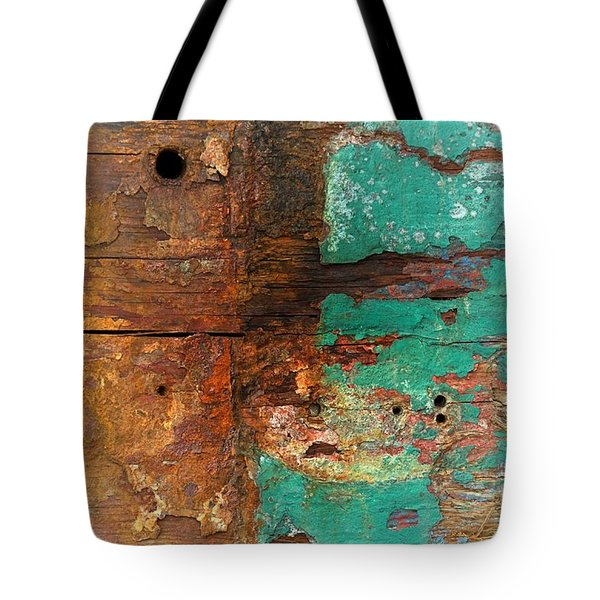 Boatyard Abstract 6 Tote Bag by Newel Hunter