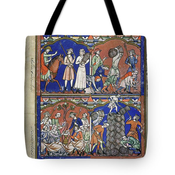 Boaz Sees Ruth Gleaning In His Field Tote Bag