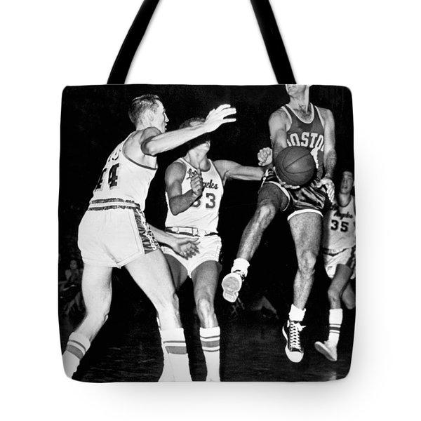 Bob Cousy Passes Basketball Tote Bag