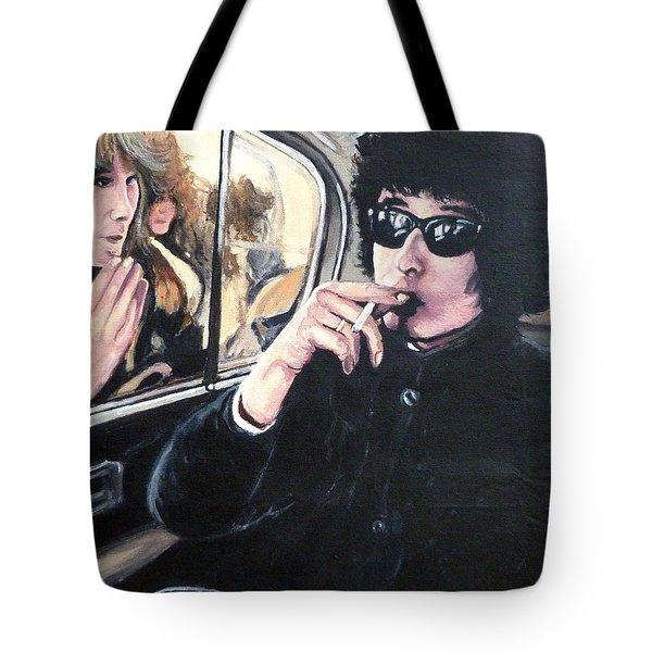 Bob Dylan 1966 Tote Bag by Tom Roderick