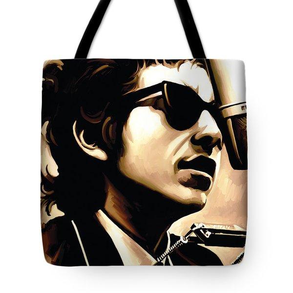 Bob Dylan Artwork 3 Tote Bag by Sheraz A