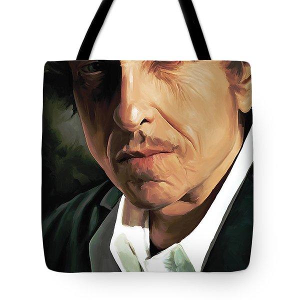 Bob Dylan Artwork Tote Bag by Sheraz A