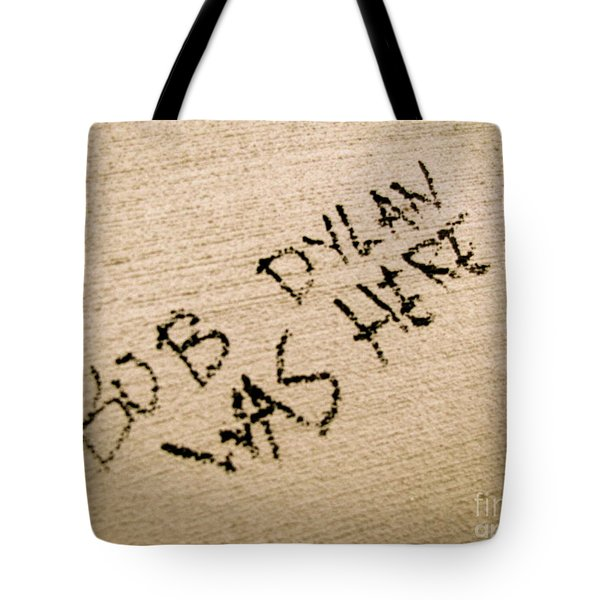 Tote Bag featuring the photograph Bob Dylan Graffiti by Jacqueline Athmann