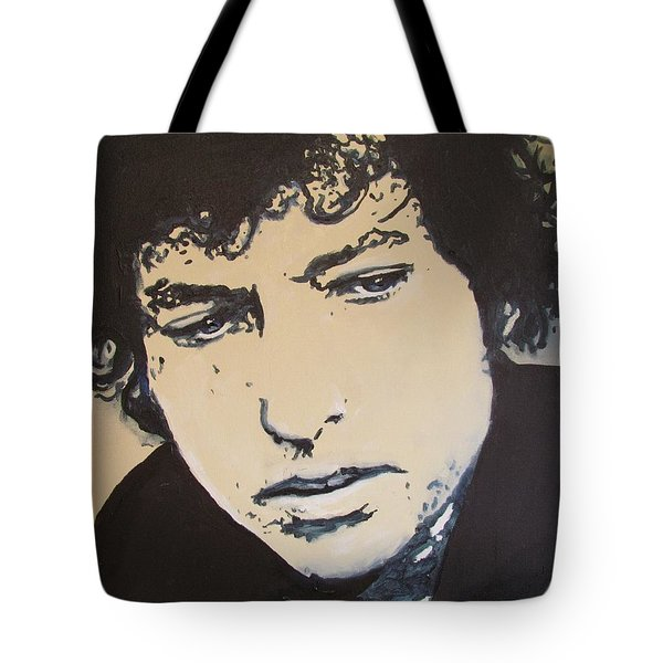 Tote Bag featuring the drawing Bob Dylan - It's Alright Ma by Eric Dee
