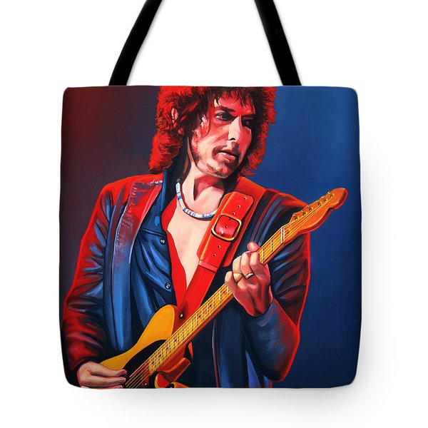 Bob Dylan Painting Tote Bag