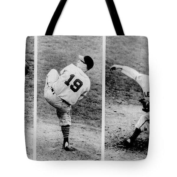 Bob Feller Pitching Tote Bag