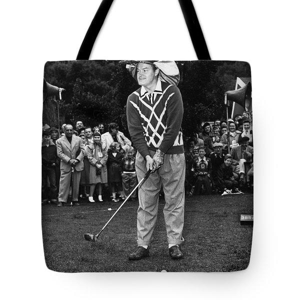 Bob Hope At Bing Crosby National Pro-am Golf Championship  Pebble Beach Circa 1955 Tote Bag by California Views Mr Pat Hathaway Archives