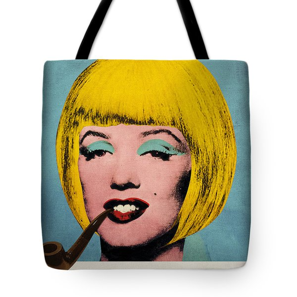 Bob Marilyn  With Surreal Pipe Tote Bag by Filippo B