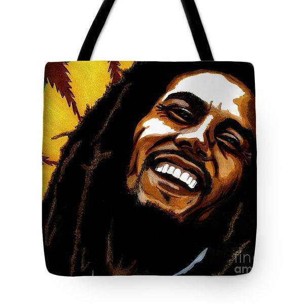 Bob Marley Rastafarian Tote Bag