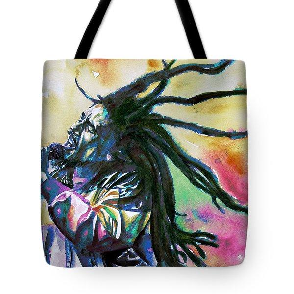 Bob Marley Singing Portrait.1 Tote Bag by Fabrizio Cassetta