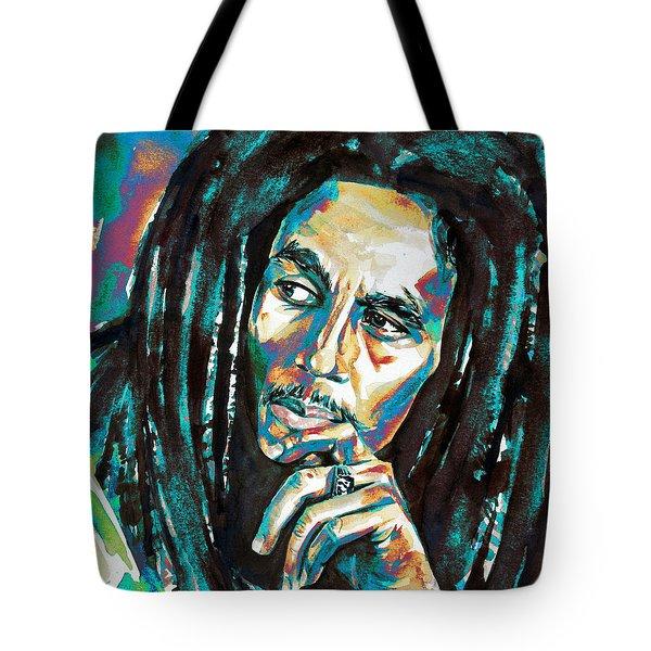 Bob Marley Watercolor Portrait.7 Tote Bag