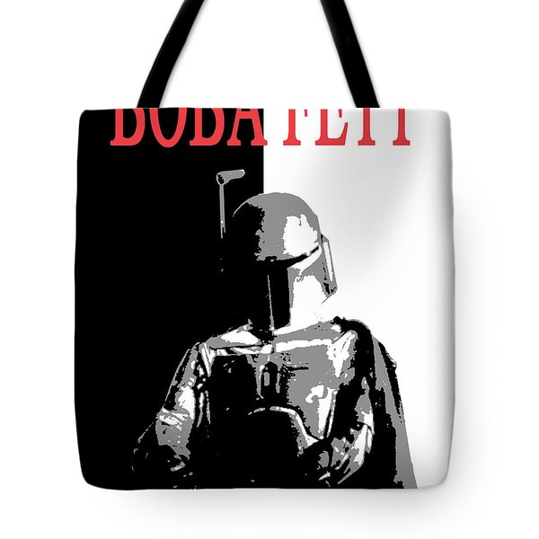 Tote Bag featuring the digital art Boba Fett- Gangster by Dale Loos Jr