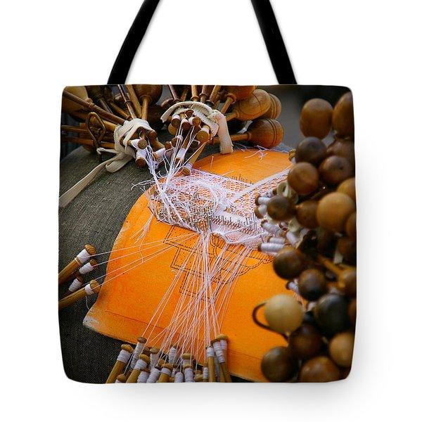 Bobbin Lace Tote Bag
