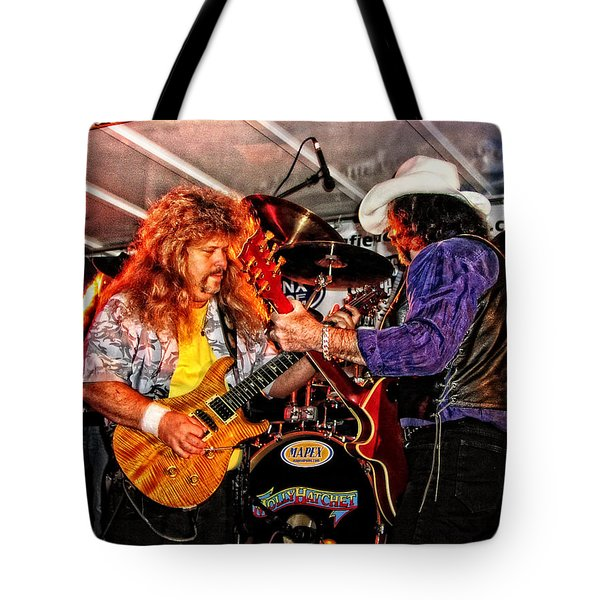 Bobby And Russ Jammin' Tote Bag by Mike Martin