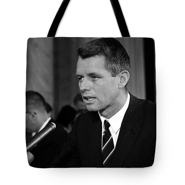 Bobby Kennedy Speaking Before The Senate Tote Bag by War Is Hell Store