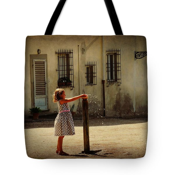 Boboli Bubbler Tote Bag by Valerie Reeves