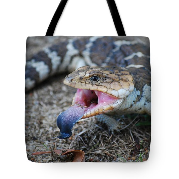 Bobtail Lizard Tote Bag by Michelle Wrighton