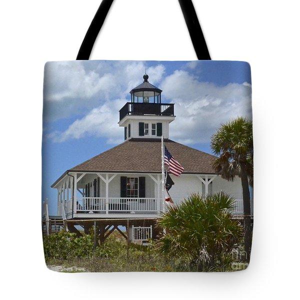 Boca Grande Lighthouse Tote Bag by Carol  Bradley