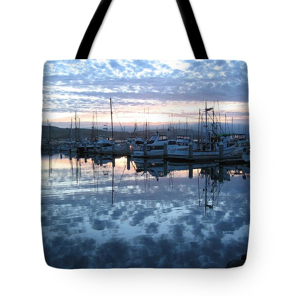 Tote Bag featuring the drawing Bodega Bay Sunrise by Dianne Levy