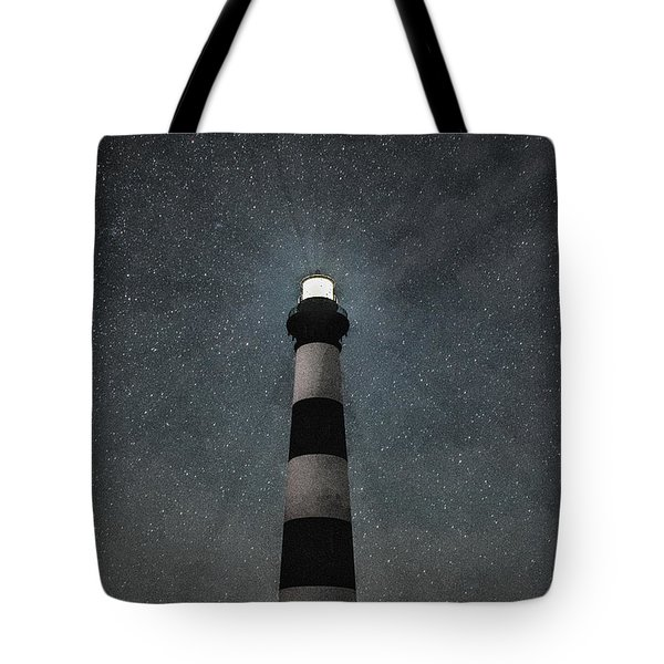 Bodie Island Light Midnight Tote Bag