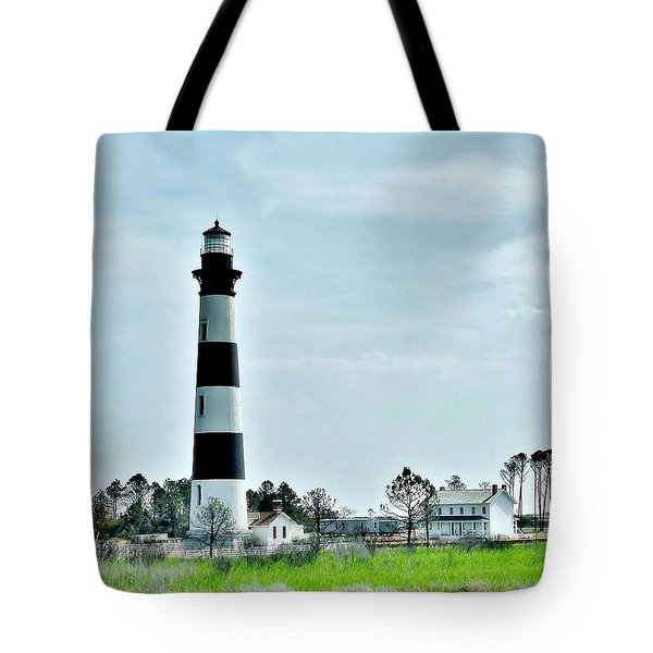 Bodie Island Lighthouse - Outer Banks North Carolina Tote Bag by Kim Bemis