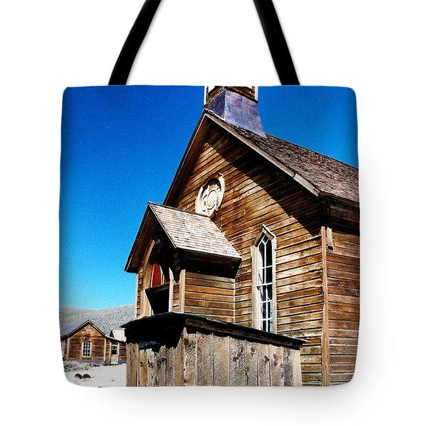 Bodie Methodist Church Tote Bag by Barbara Snyder