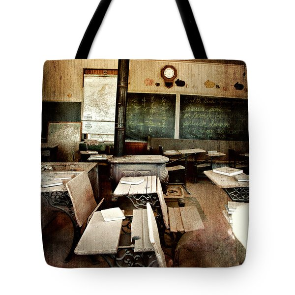 Tote Bag featuring the photograph Bodie School Room by Lana Trussell