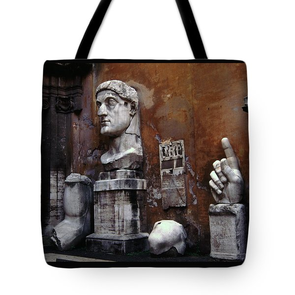 Body Parts The Colossus Of Constantine Rome Tote Bag