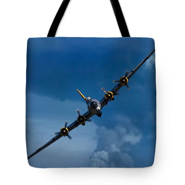 Boeing B-17 Flying Fortress Tote Bag by Adam Romanowicz