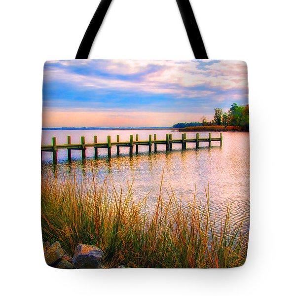 Bogles Wharf Landing Tote Bag