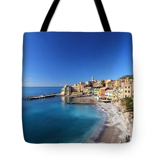 Bogliasco Village. Italy Tote Bag by Antonio Scarpi