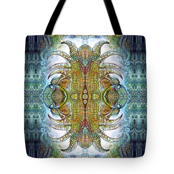 Tote Bag featuring the digital art Bogomil Variation 14 - Otto Rapp And Michael Wolik by Otto Rapp