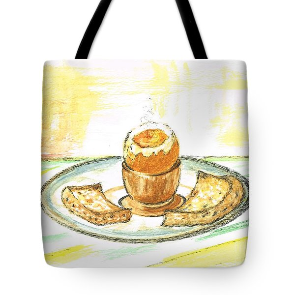 Boiled Egg And Toast For Breakfast Tote Bag